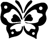 Butteryfly, Vinyl cut decal