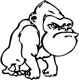 Angry Gorilla, Vinyl cut decal