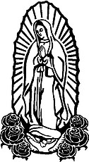 Guadalupe, Vinyl cut decal