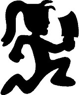 Hatchet Man, Girl, Vinyl cut decal