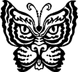 Tigar Butterfly, Vinyl cut decal