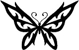 Tribal Butterfly, Vinyl cut decal