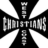 West coast Christians, Maltese cross, Vinyl cut decal