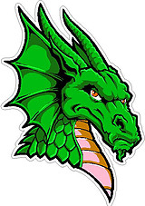 Dragon Head, full color Vinyl decal sticker