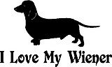 Wiener Dog, I love my wiener, Vinyl decal sticker