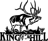 Elk, King of the Hill, Vinyl decal sticker