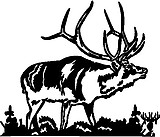 Elk, Vinyl decal sticker