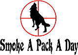 Smoke A Pack A Day, Wolf Vinyl decal sticker