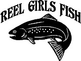 Reel Girls Fish, with Trout, Vinyl cut decal