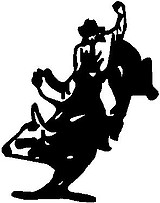 Bull rider, Vinyl decal sticker