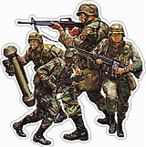 Soldiers, Full color decal only