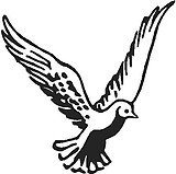 Flying Dove, Vinyl cut decal