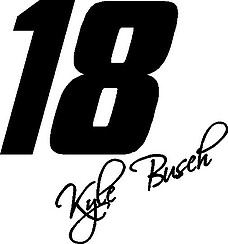 18 Kyle Busch, Vinyl decal sticker
