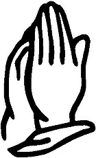 Praying hands, Vinyl decal sticker
