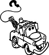 Mater from cars, Vinyl decal sticker