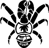 Guam crab, Vinyl decal sticker