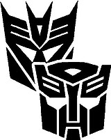 Transformers, Vinyl decal sticker