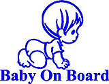 Baby on board, Boy, Vinyl decal sticker