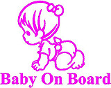 Baby on board, Girl, Vinyl decal sticker