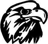 Eagle head, Vinyl decal sticker