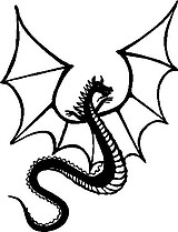 Dragon, Vinyl cut decal