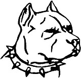 Pit Bull Head, Vinyl cut decal sticker
