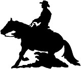 Cowboy riding a horse, Vinyl decal sticker