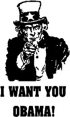 Uncle Sam, I want you Obama!, Vinyl cut decal