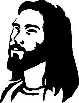 Jesus, Vinyl cut decal
