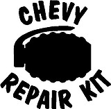Chevy Pepair Kit, Grenade, Vinyl cut decal