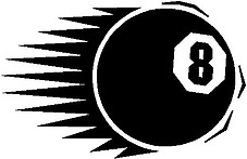 8 Ball, Vinyl cut decal