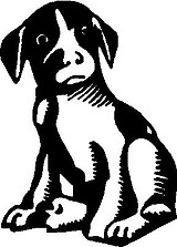 Puppy Dog, Vinyl cut decal