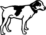 Dog, Vinyl cut decal