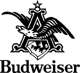 Budweiser Logo, Vinyl cut decal
