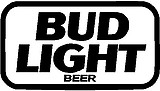 Bud Light Beer, Vinyl cut decal