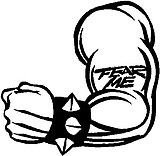 Fear Me Tattoo on an arm, Vinyl cut decal