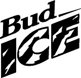 Bud Ice, beer, Vinyl cut decal