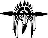 Spear, Beads and feathers, Vinyl cut decal