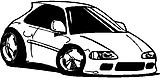 Honda Car, Vinyl cut decal