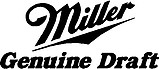 Miller Genuine Draft Logo, Vinyl cut decal