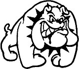 Mean Bull Dog, Vinyl cut decal