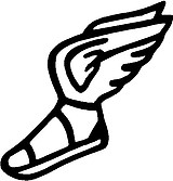 Shoe with wings, Vinyl cut decal