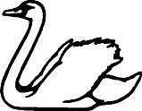 Goose, Vinyl cut decal