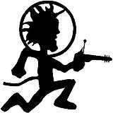 Space Hatchet Man, Vinyl cut decal
