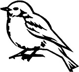 Bird, Vinyl cut decal