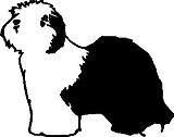 Sheep Dog, Vinyl cut decal