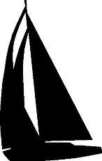 Sail Boat, Vinyl cut decal