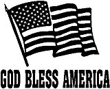 God Bless America, American Flag, Vinyl cut decal