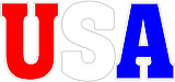 USA, Full color decal, comes in Red, White and Blue Only