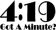 4:19 got a minute, Vinyl cut decal